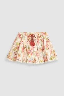 Floral Tie Waist Skirt (3mths-7yrs)