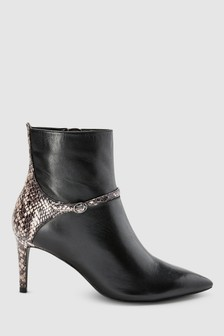 Skinny Buckle Ankle Boots