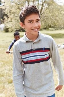 Stripe Long Sleeve Poloshirt (3-16yrs)