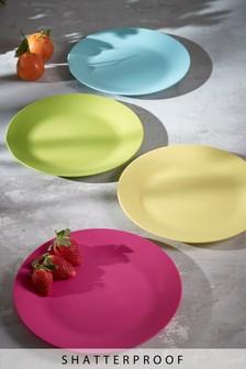 Set of 4 Plastic Plates