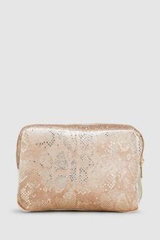 Double Zip Velvet Bag