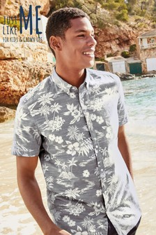 Hawaiian Leaf Short Sleeve Shirt