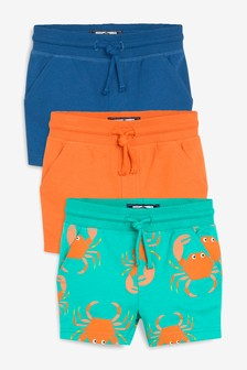 3 Pack Crab All Over Print Shorts (3mths-7yrs)