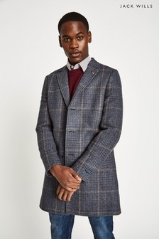 Jack Wills Grey Croften Wool Overcoat