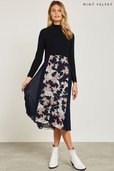 Mint Velvet Blue Ava Print Knit Dress