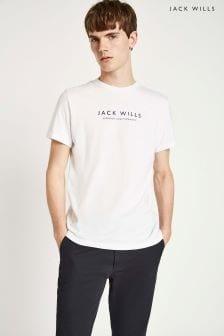 Jack Wills White Westmore Graphic T-Shirt