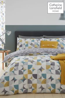 Catherine Lansfield Retro Circles Duvet Cover and Pillowcase Set