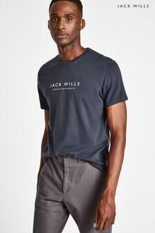 Jack Wills Navy Westmore Graphic T-Shirt