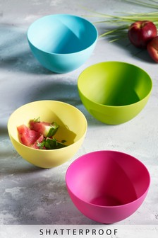 Set of 4 Plastic Bowls