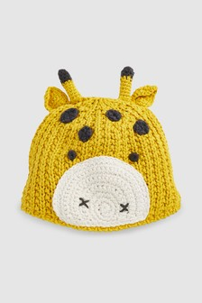 Giraffe Knit Hat (0mths-2yrs)