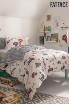 Fat Face Kids Emu Duvet Cover and Pillowcase Set
