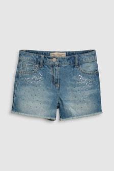 Sparkle Denim Shorts (3-16yrs)