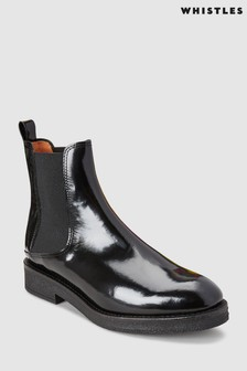 Whistles Black Rubber Sole Chelsea Boot