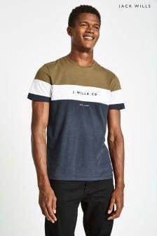 Jack Wills Olive Hales Colourblock T-Shirt