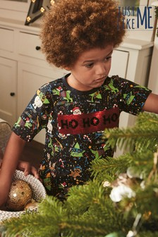 Kids Matching Family Flippy Sequin Christmas T-Shirt (3-16yrs)