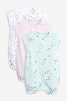 Giraffe Embroidered Rompers Three Pack (0mths-2yrs)