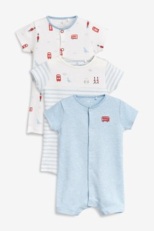 London Rompers Three Pack (0mths-2yrs)