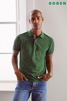Boden Green Piqué Polo Shirt