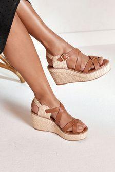 Strappy Espadrille Wedge Sandals