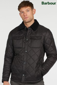 Barbour® Black & Navy Blue Box Quilted Shirt Jacket