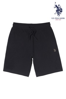 U.S. Polo Assn. Black 3cm DHM Sweat Shorts
