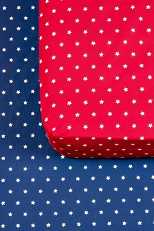 2 Pack Stars Fitted Sheet