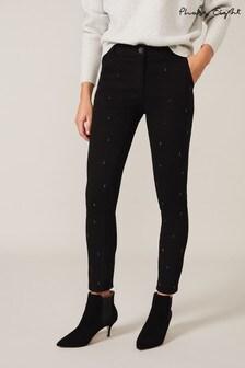 Phase Eight Black Tear Drop Stud Jeans