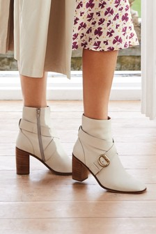 Signature Buckle Ankle Boots