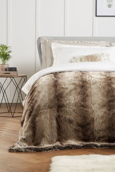 Brown Barnaby Faux Fur Throw