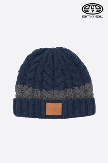 Animal Indigo Blue Allex Knitted Beanie