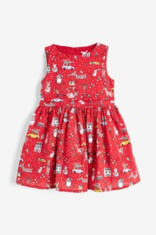 Christmas All Over Print Prom Dress (3mths-7yrs)