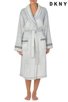 DKNY Fleece Long Dressing Gown