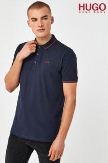 HUGO Blue Dinoso 212 Polo Shirt