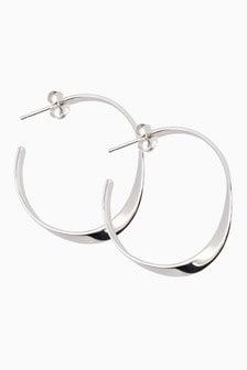 Medium Organic Hoop Earrings