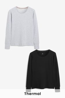 Next Elements Brushed Thermal Crew Tops 2 Pack