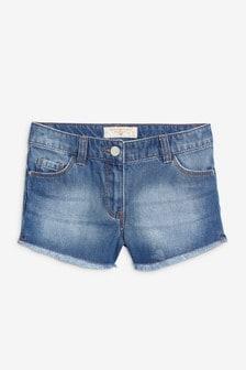 Frayed Hem Denim Shorts (3-16yrs)