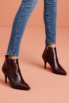 Signature Comfort Leather Ankle Boots