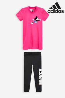 adidas Little Kids Minnie Mouse T-Shirt Set