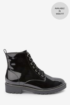 Forever Comfort® Cleat Sole Lace-Up Ankle Boots