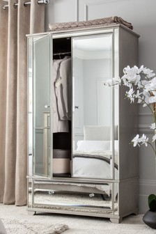Fleur Mirrored Double Wardrobe