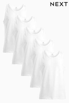 Vests Pure Cotton Five Pack