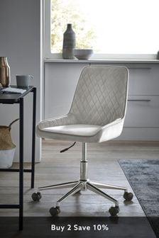 Hamilton Office Desk Chair with Chrome Base