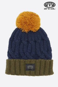 Animal Indigo Blue Canye Knitted Beanie
