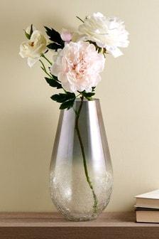 Large Ombre Crackle Vase