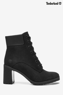 """Timberland® Black 6"""" Lace Up Heel Boots"""