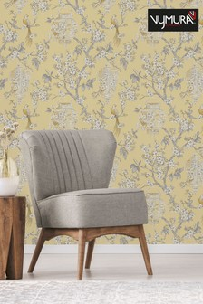 Vymura London Yellow Exclusive To Next Japanese Chinoise Floral Wallpaper