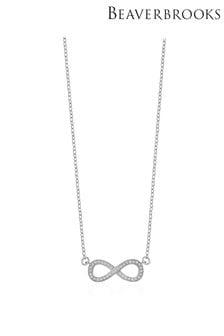 Beaverbrooks 9ct Infinity Cubic Zirconia Necklace