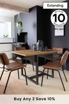 Bronx Oak Effect 2 to 4 Seater Extending Dining Table