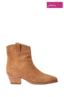 Joules Brown Elmwood Suede Western Boots