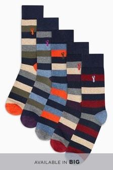 Stripe Socks Five Pack